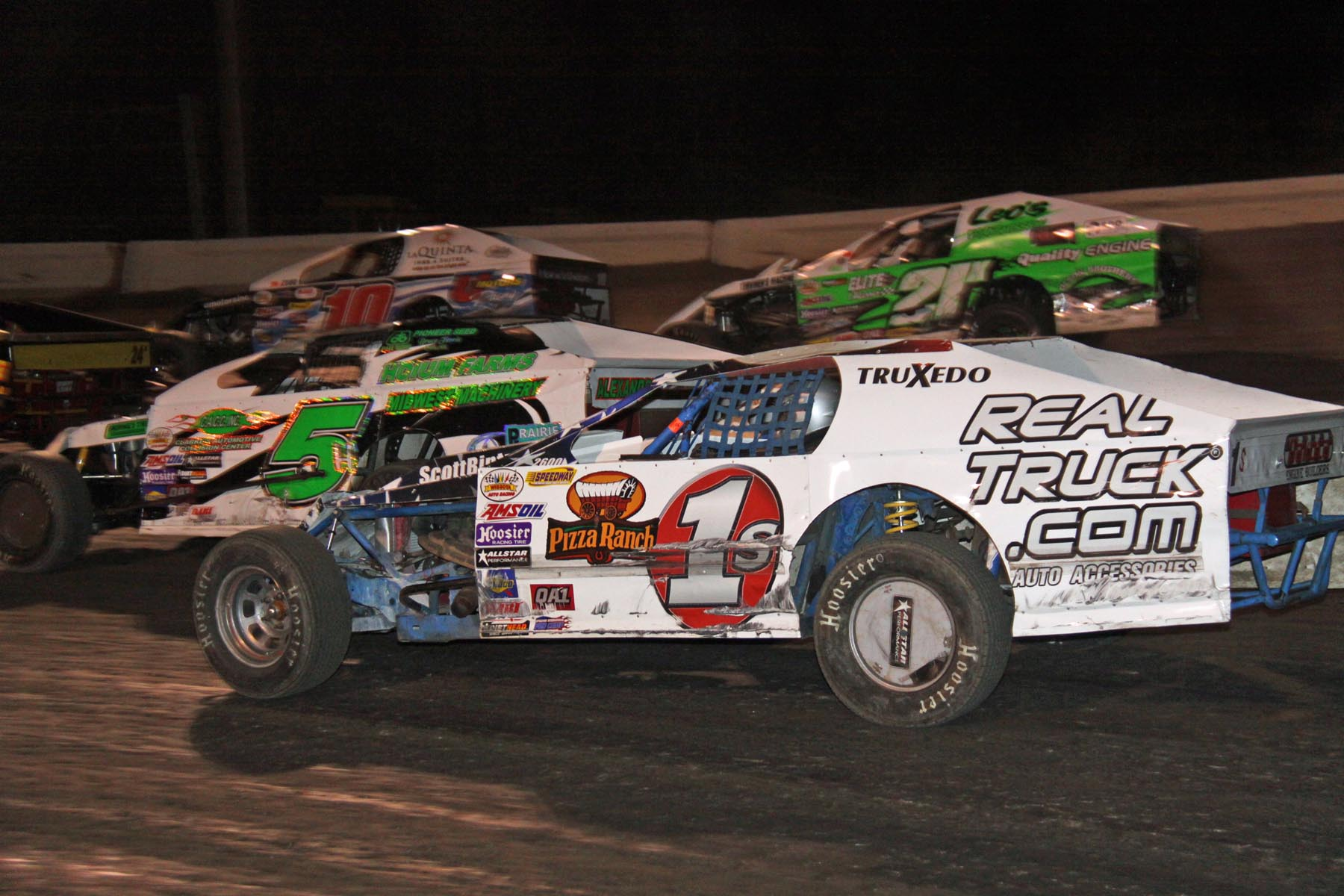 Racing Action at the Jamestown Stock Car Stampede.  Photo by CRP Photos