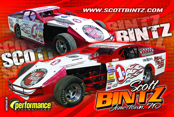 2010 Scott Bintz Driver Card Front