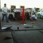Matt & Joey Setting Up Car