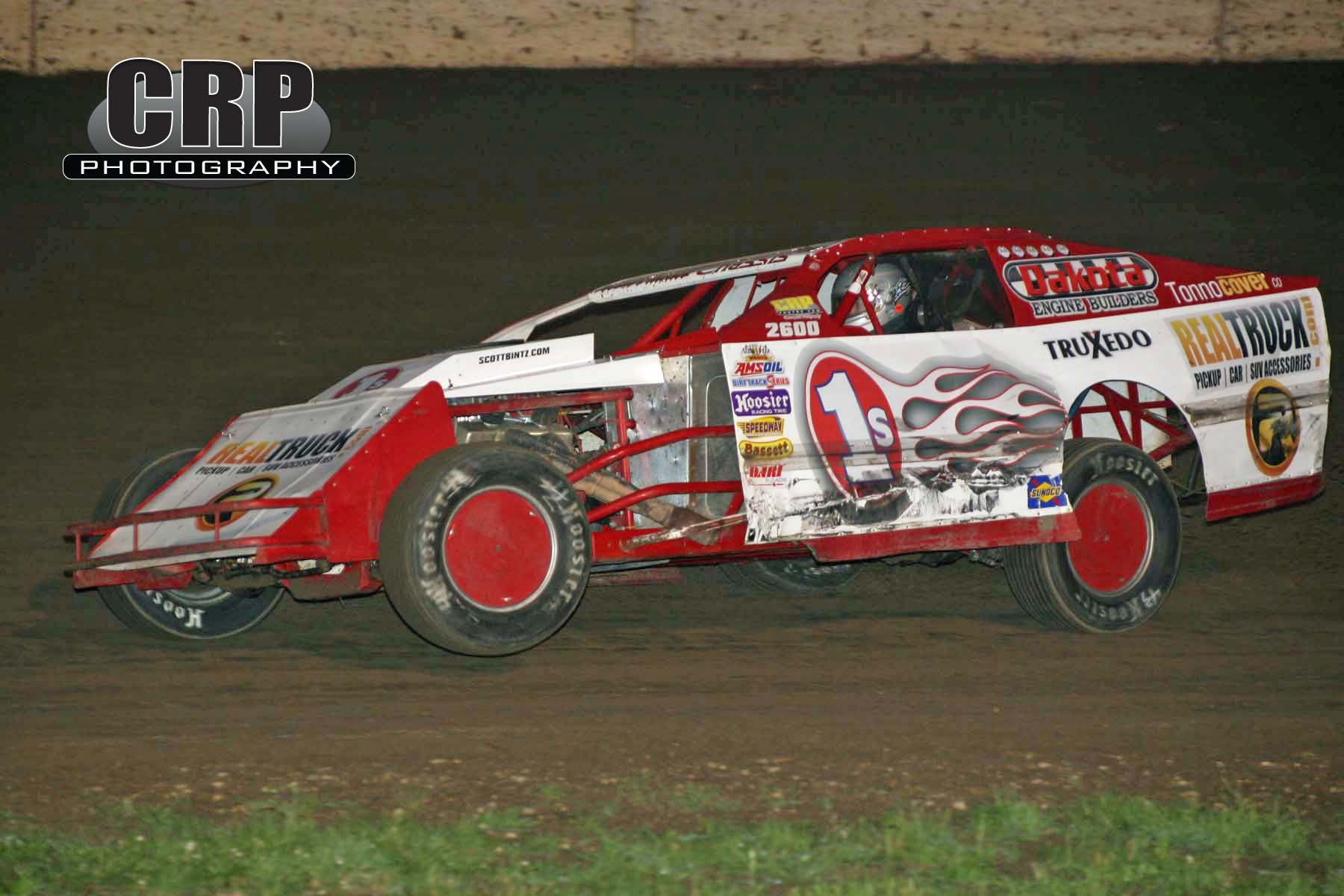 Dirt Track Racing Action
