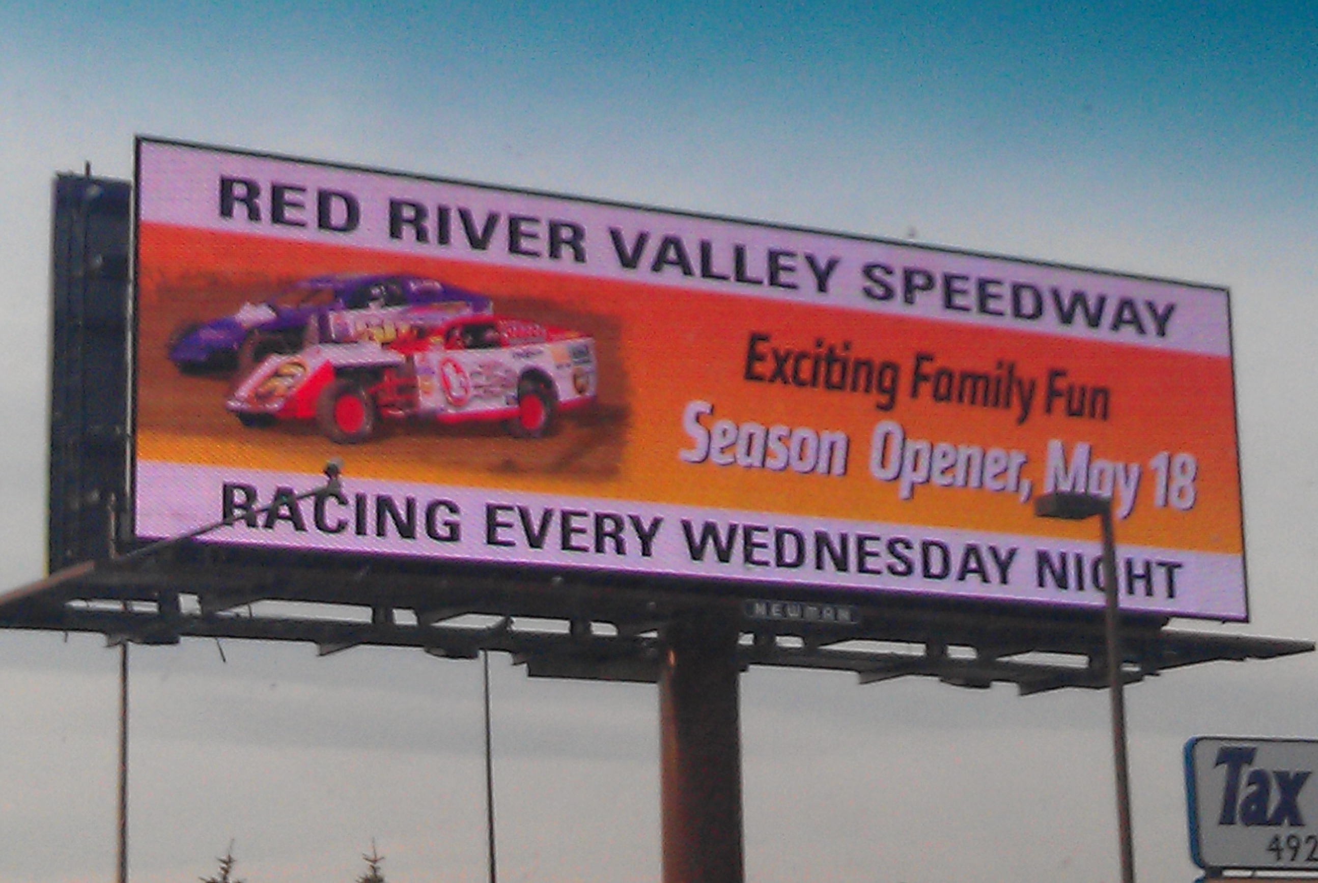 Red River Valley Speedway Billboard