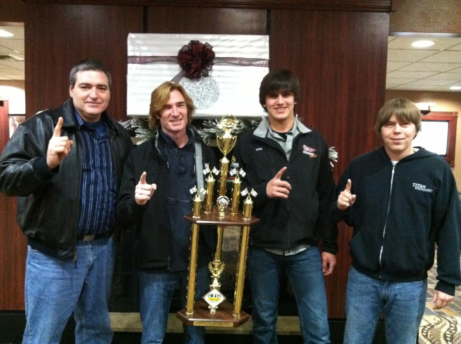 Jamestown Speedway Track Champions.  The SBR Crew: John, Scott, Chase & Joey