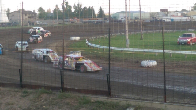 Scott Hot out of turn four at Sheyenne River