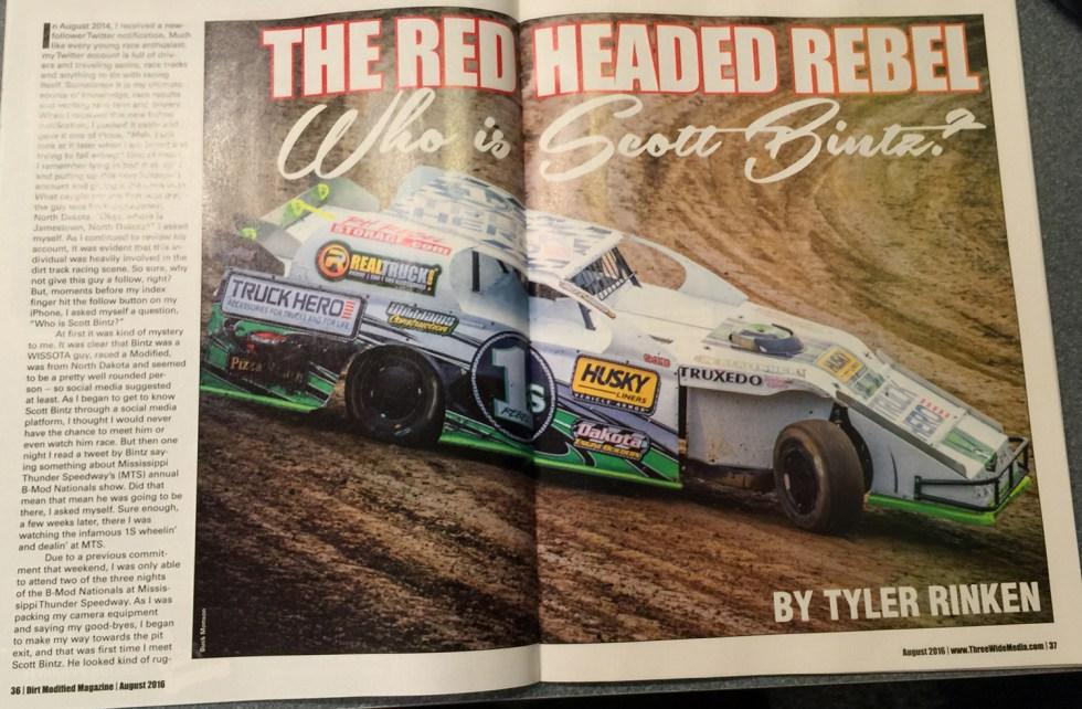 Scott Bintz - Red Headed Rebel - Dirt Mod Magazine