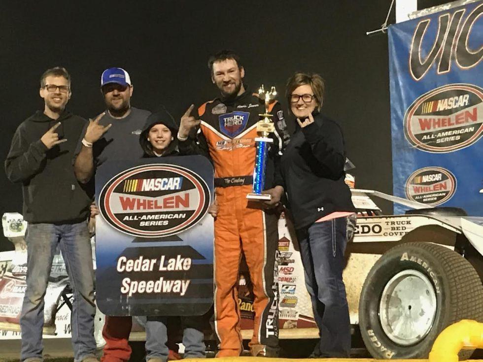 Travis Saurer Win at Cedar Lake Speedway Friday