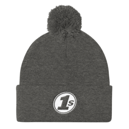 1s Pom Pom Knit Cap - Dark Heather Grey