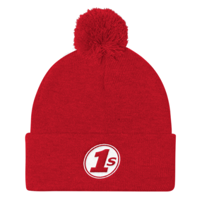1s Pom Pom Knit Cap - Red